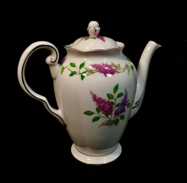 Vintage Afternoon Tuscan Tea & Coffee Set / Bone China / Lilac Time / Floral